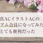 写真ACイラストACのプレミアム会員になってみたらとても便利だった(おすすめ素材サイト)