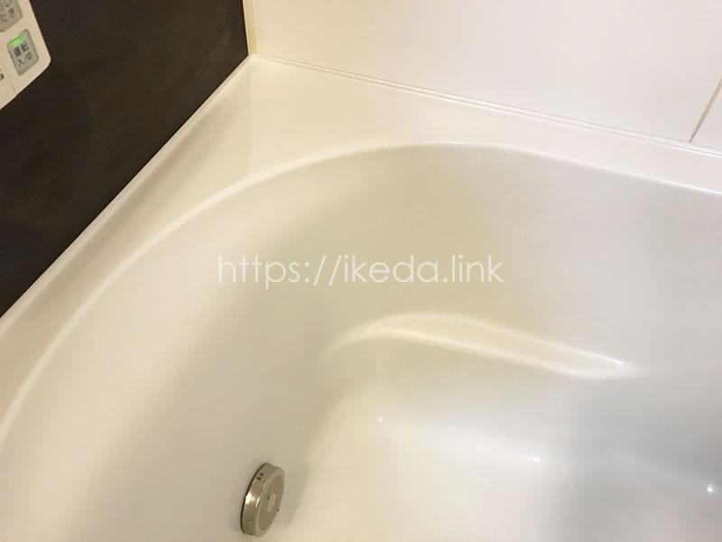 浴槽の青い汚れアフター
