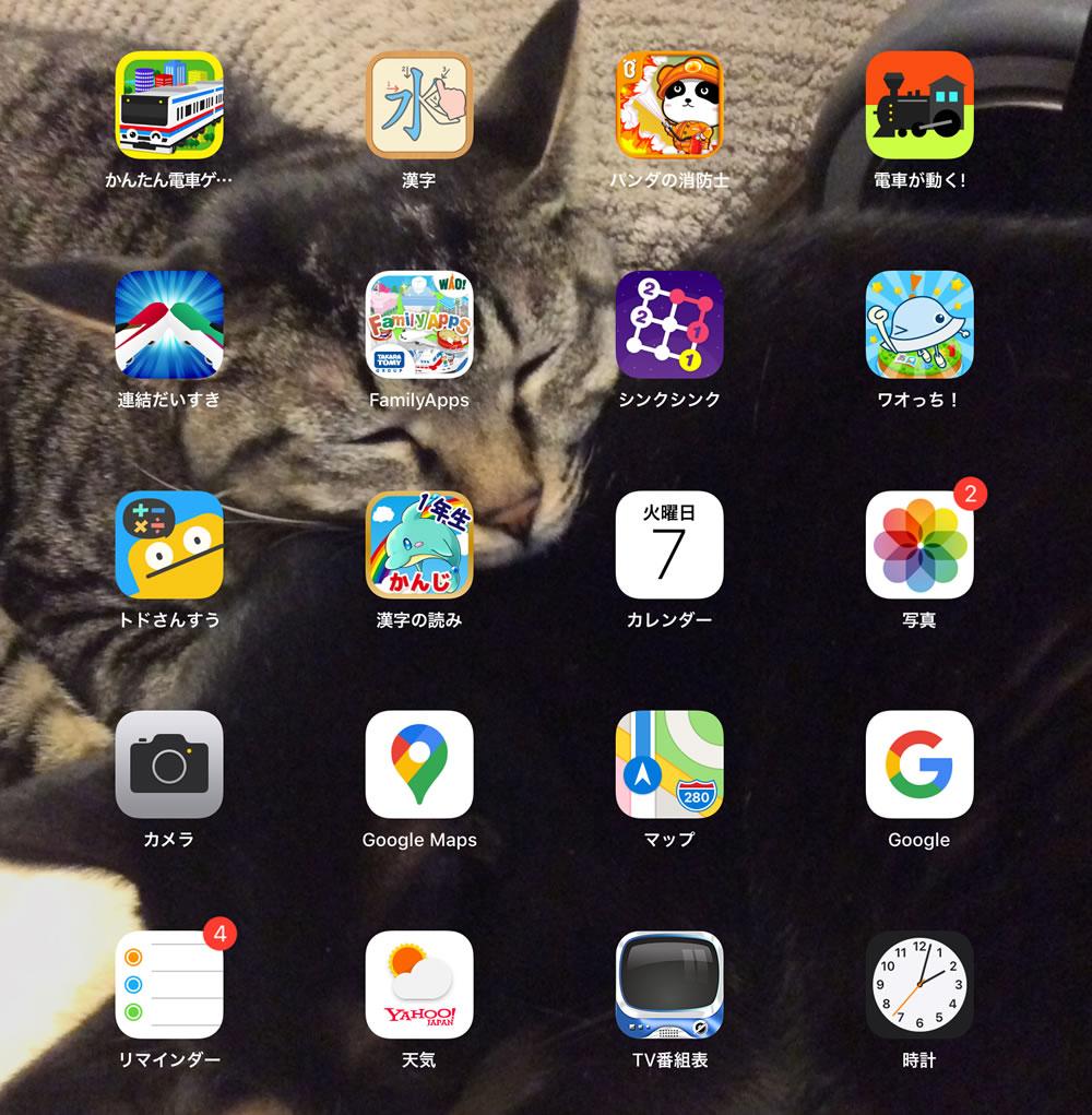 iPadの知育アプリは毎日利用している